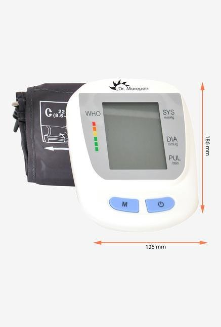 Dr Morepen Blood Pressure BP09 Monitor White