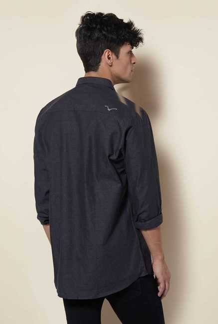 Lawman Dark Grey Full Sleeve Casual Shirt