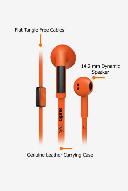 Sudio Tva In the Ear Headphone Orange