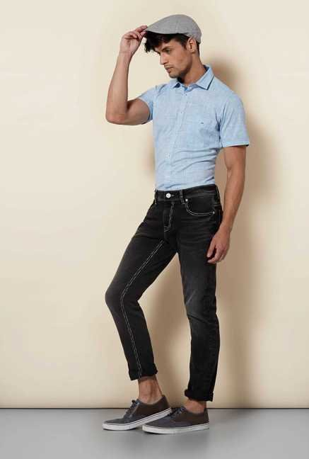 Lawman Blue Short Sleeve Casual Shirt