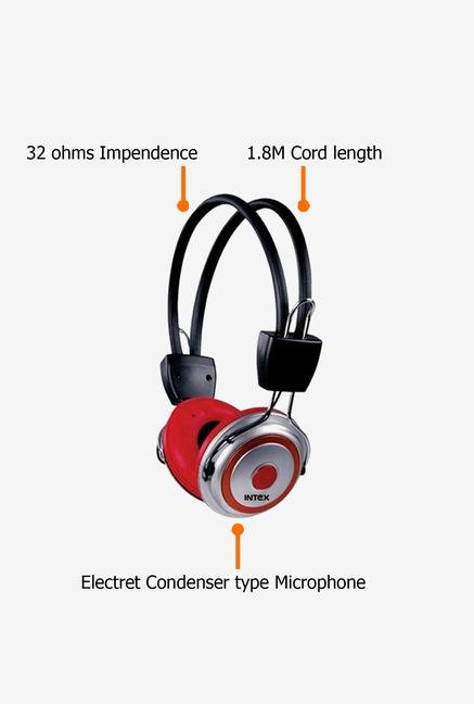 Intex Hip Hop Over Ear Headphone Red