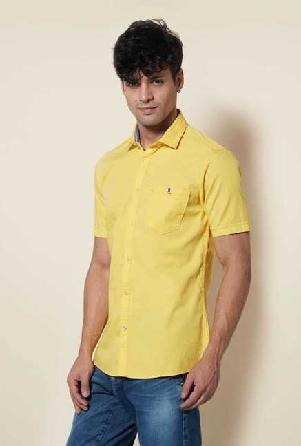 Lawman Yellow Short Sleeve Casual Shirt