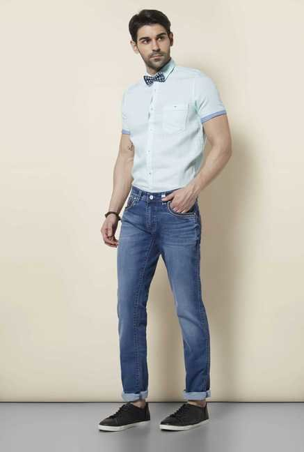 Lawman Sky Blue Short Sleeve Casual Shirt