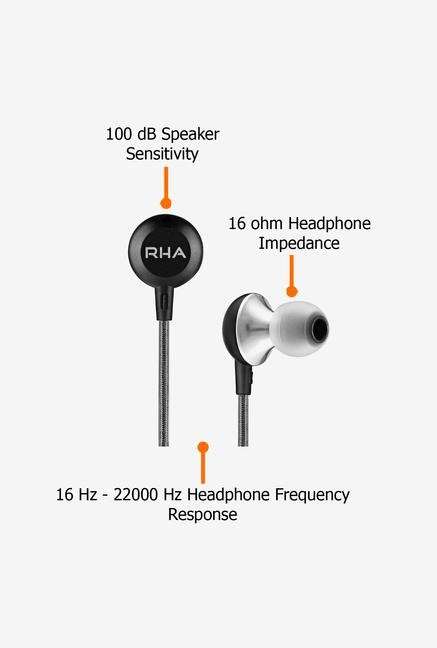 RHA MA600 In the Ear Headphone Black