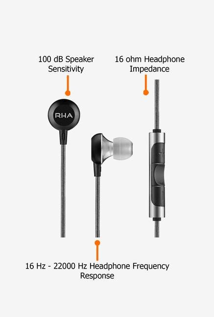 RHA MA600i In the Ear Headphone Black