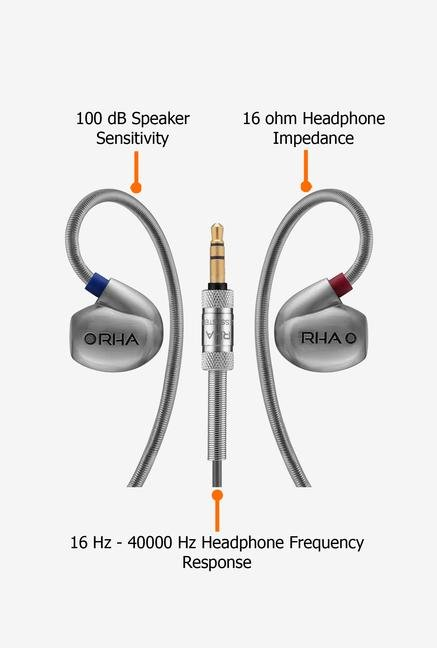 RHA T10 In the Ear Headphone Silver