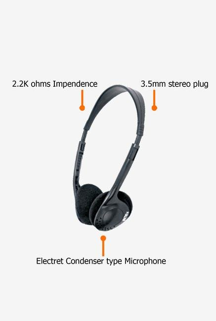 Intex Standard Over Ear Headphone Black