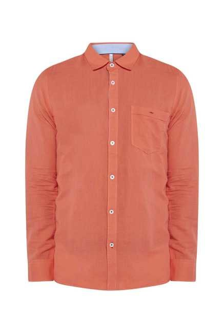 Lawman Peach Full Sleeve Casual Shirt