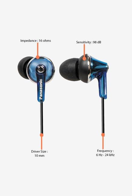 Panasonic RP-HJE190 In the Ear Headphone Blue