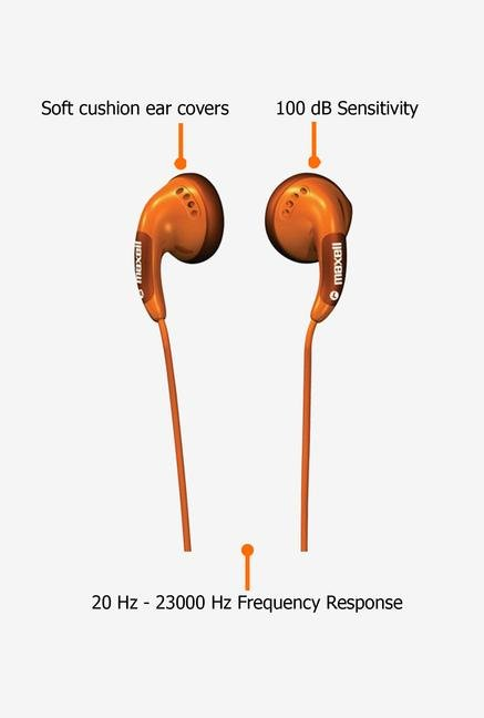 Maxell CB In the Ear Headphone Orange