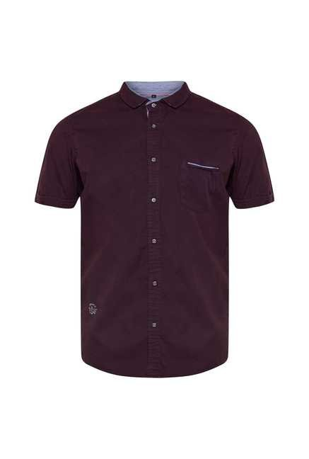 Lawman Wine Short Sleeve Casual Shirt