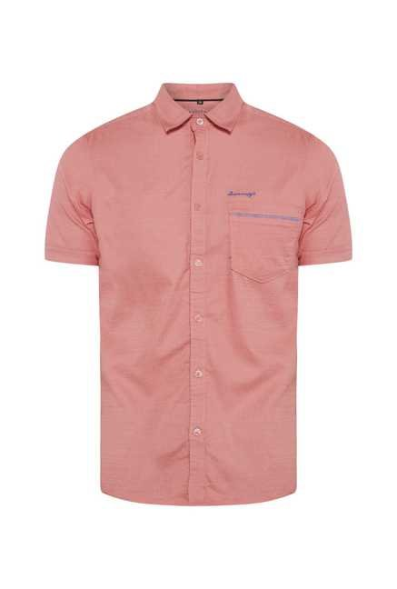 Lawman Peach Short Sleeve Casual Shirt