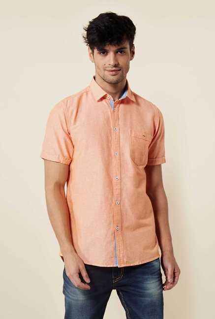 Lawman Orange Short Sleeve Casual Shirt