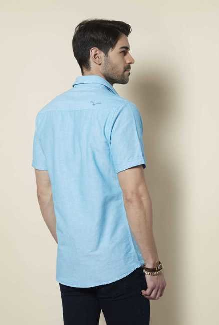 Lawman Aqua Short Sleeve Casual Shirt