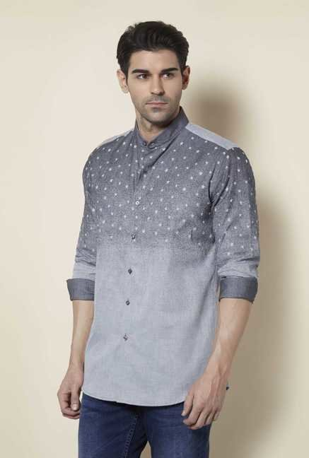 Lawman Metal Grey Full Sleeve Casual Shirt