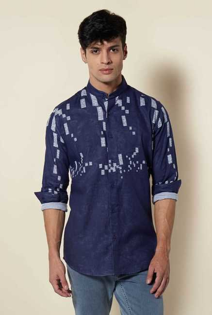 Lawman Navy Full Sleeve Casual Shirt
