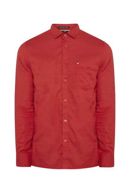 Lawman Matty Red Full Sleeve Casual Shirt