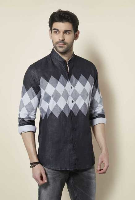 Lawman Black Full Sleeve Casual Shirt