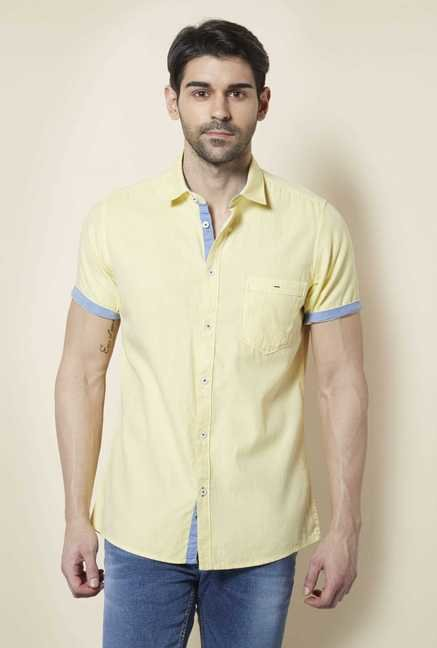 Lawman Lemon Short Sleeve Casual Shirt