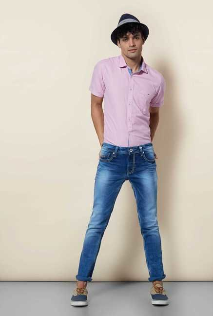 Lawman Pink Short Sleeve Casual Shirt