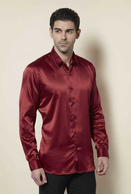 Lawman Red Full Sleeve Casual Shirt