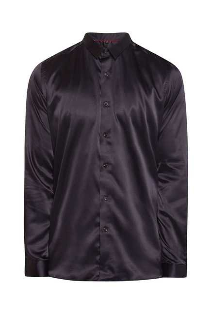 Lawman Wine Full Sleeve Casual Shirt