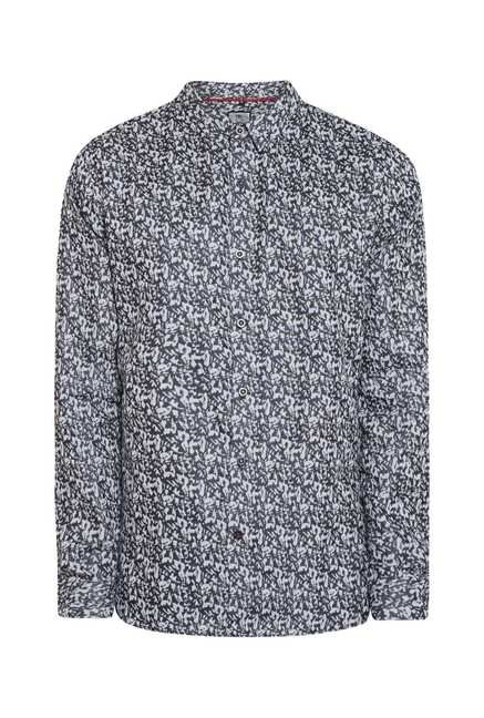 Lawman Black Grey Full Sleeve Casual Shirt