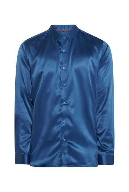 Lawman Teal Blue Full Sleeve Casual Shirt