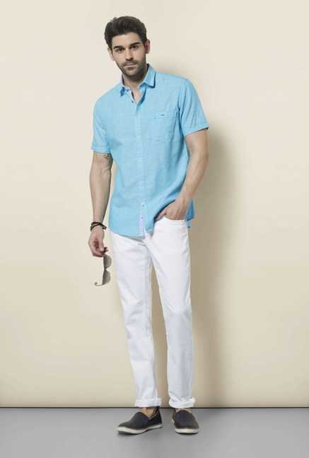 Lawman Turquoise Short Sleeve Casual Shirt