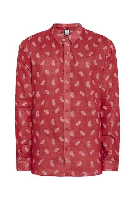 Lawman Blood Red Full Sleeve Casual Shirt