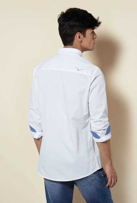 Lawman White Full Sleeve Casual Shirt