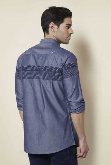 Lawman Steel Grey Full Sleeve Casual Shirt