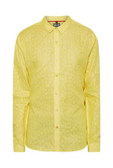 Lawman Yellow Full Sleeve Casual Shirt