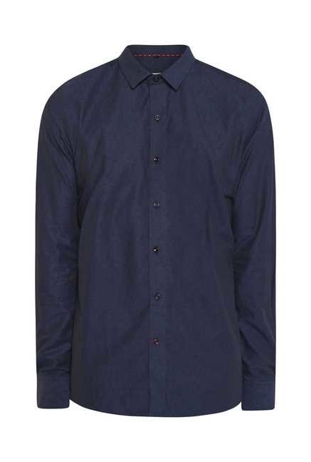 Lawman Deep Blue Full Sleeve Casual Shirt