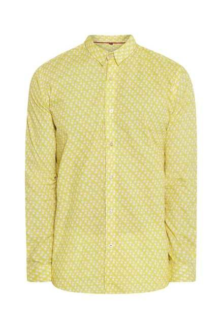 Lawman Lemon Full Sleeve Casual Shirt