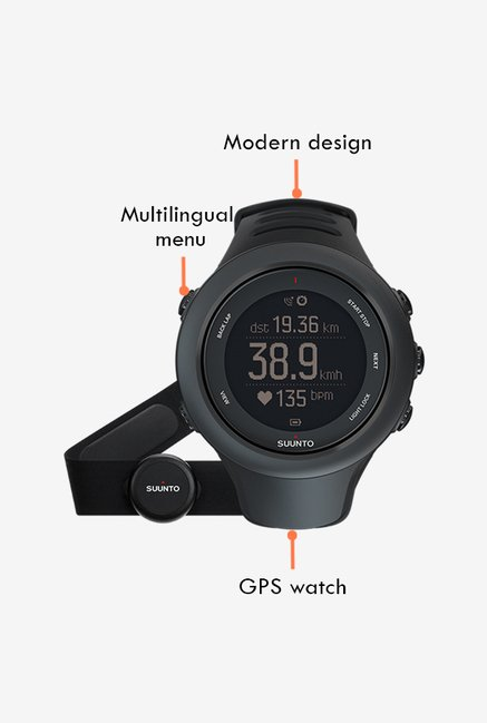 SUUNTO Ambit3 Sport HR Smart Watch Black