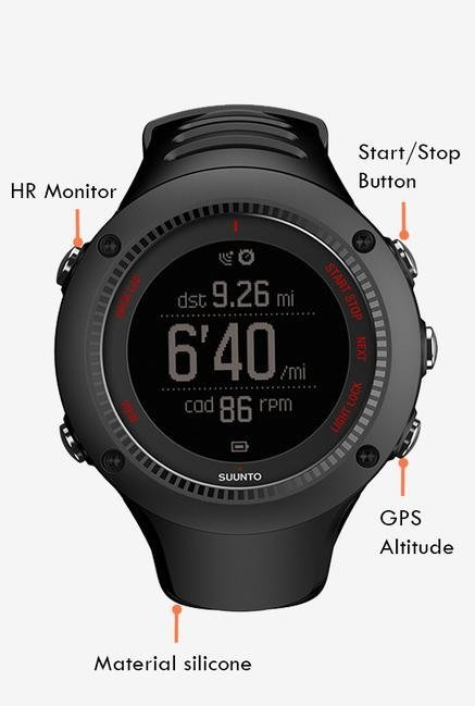 SUUNTO Ambit3 Run HR Smart Watch Black