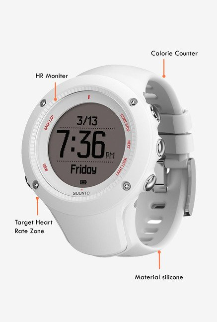 SUUNTO Ambit3 Run HR Smart Watch White