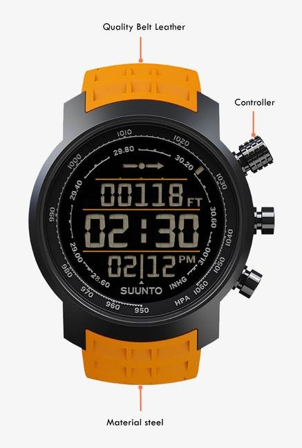 SUUNTO Elementum Terra Smart Watch Amber Rubber