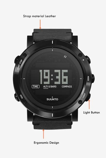 SUUNTO Essential Collection Smart Watch Carbon