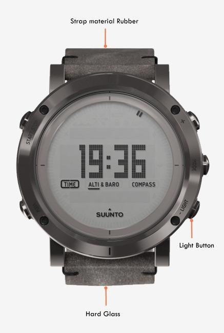 SUUNTO Essential Collection Smart Watch Steel