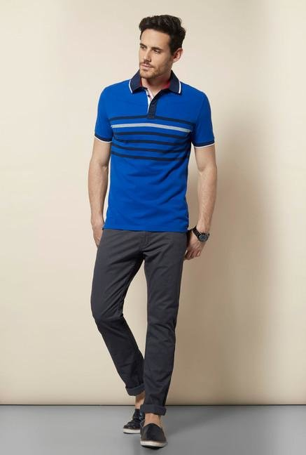 celio* Blue Polo T-Shirt