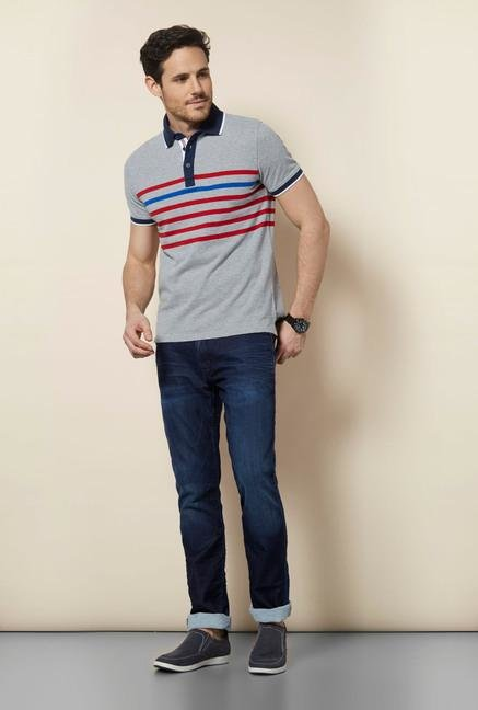 celio* Grey Polo T Shirt