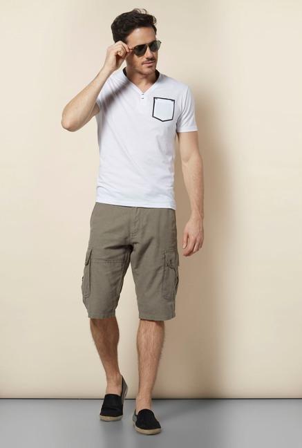 celio* White V Neck T-Shirt