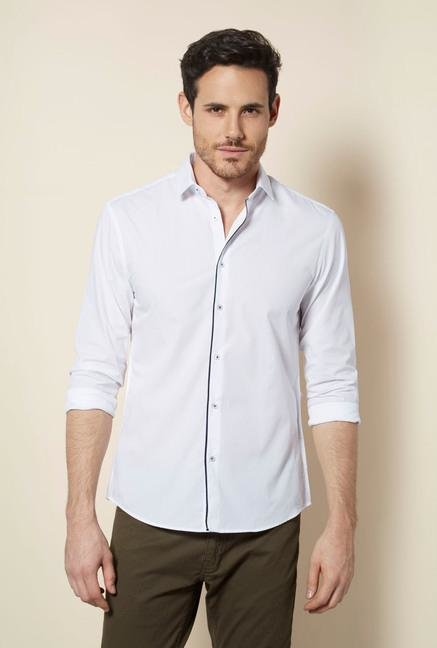 celio* White Blanc Solid Casual Shirt