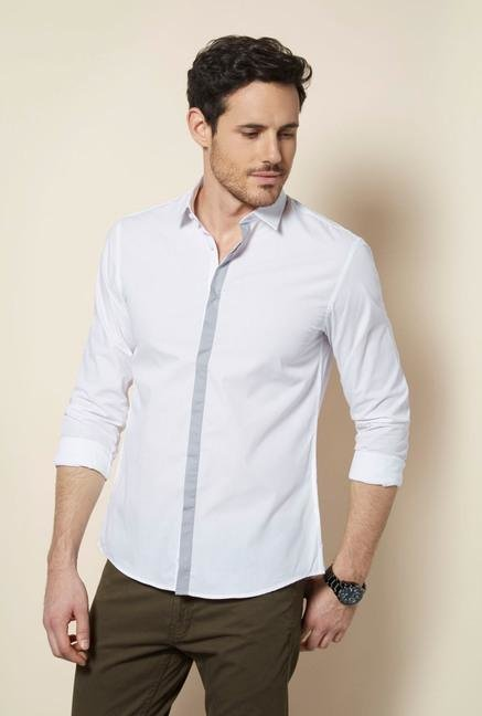 celio* White Blanc Casual Shirt