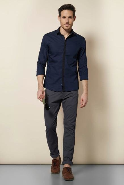celio* Blue Encre Casual Shirt