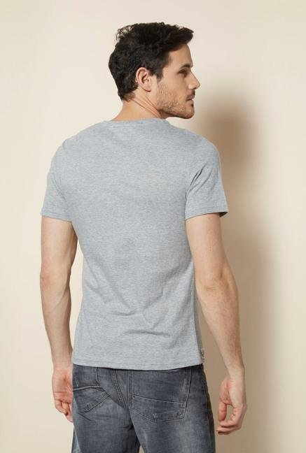 celio* Grey Crew Neck T Shirt