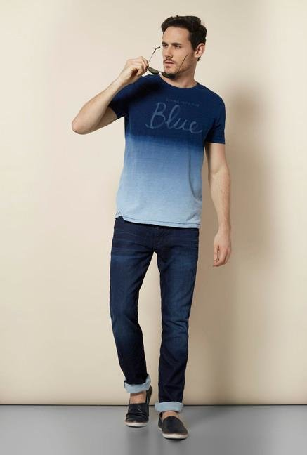 celio* Indigo Regular Fit T Shirt