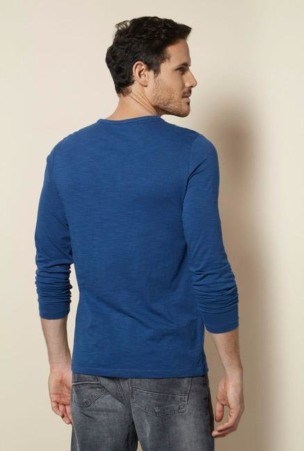 celio* Indigo Snug Fit T Shirt